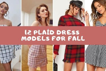 fall dress plaid models