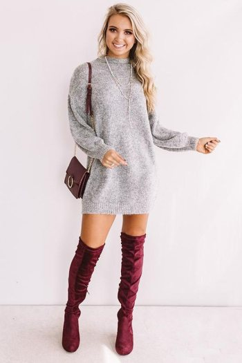 Fall Outfits Sweater Dress